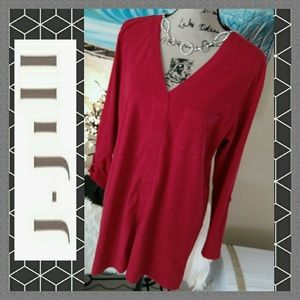 Gently Used J. Jill Red Cotton Top